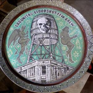 """Lagunitas/Bloodshot """"FEW Brew"""" Barrel Painting w/ Jon Langford"""
